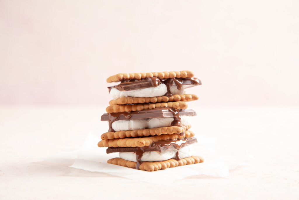 Anna Stankiewicz does ordinary s'mores, like these pictured, one better. She adds Italian flavorings.