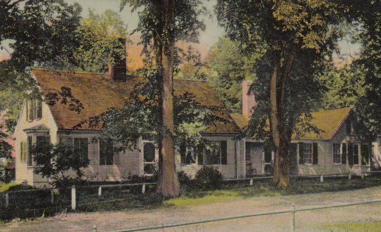 Postcard of Jacob Abbott's house in Farmington.