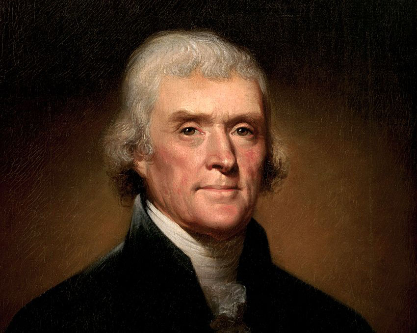 Thomas Jefferson by Rembrandt Peale, 1800.
