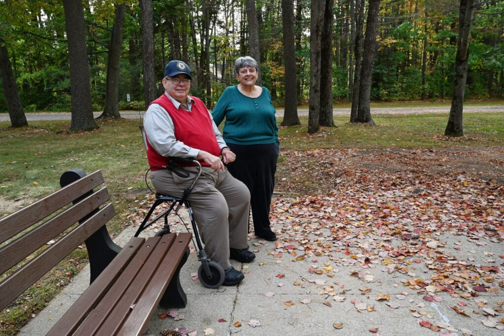 SOUTH PORTLAND, ME - OCTOBER 4: Veteran Ron Menard and his wife, Mary Menard Tuesday, October 6, 2020. (Staff Photo by Shawn Patrick Ouellette/Staff Photographer)