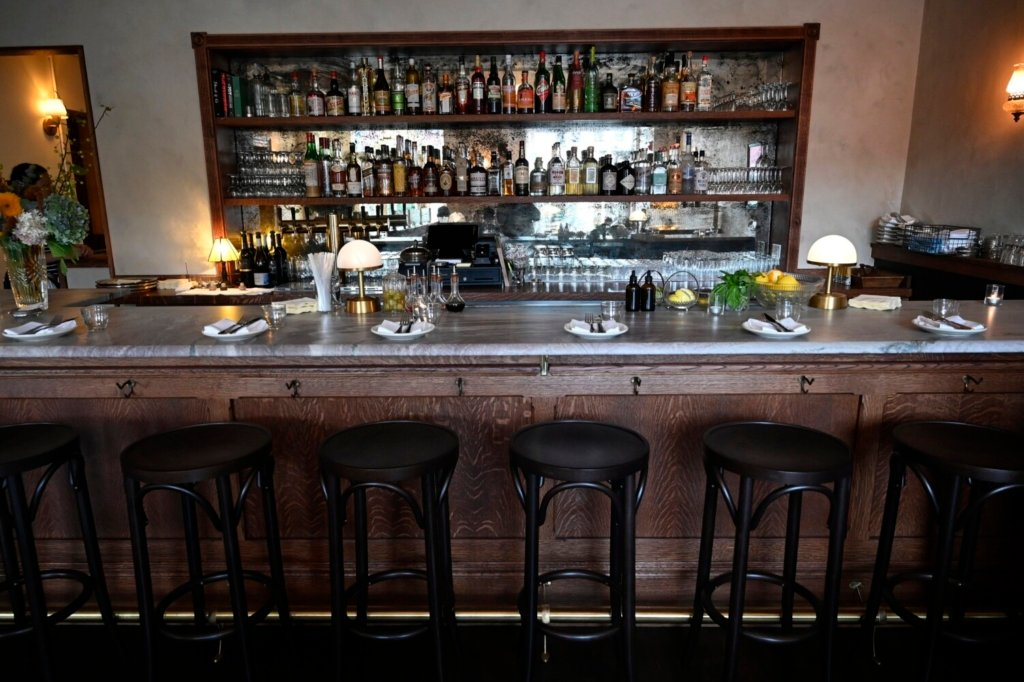 The bar at Flood's. The restaurant, which had been closed for the time being, removed its belongings from its Congress Street space earlier this week.