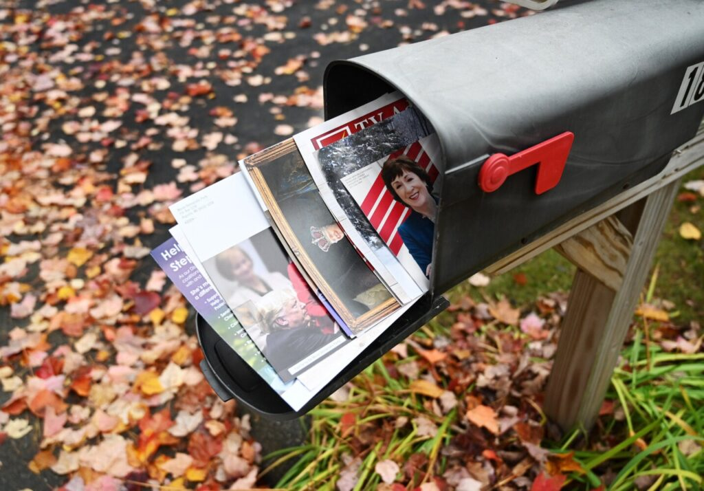 Political mail piling up across Maine in unusual election year
