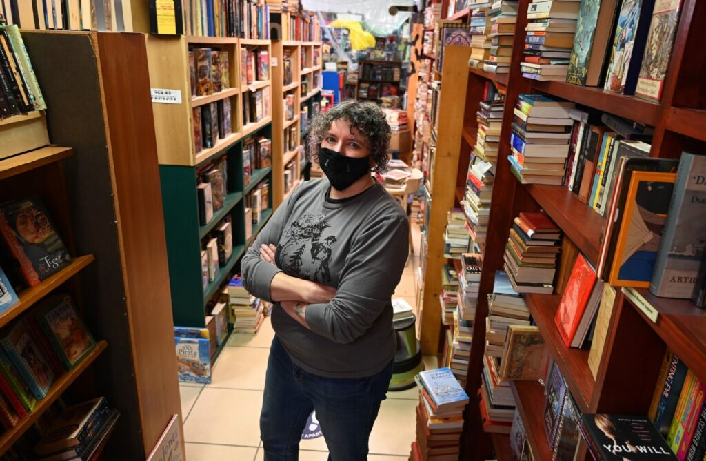 Michelle Souliere, owner of The Green Hand Bookshop in Portland, applied for an economic recovery grant from the state but was denied. Her business is struggling, and she doesn't understand what went wrong with her application.