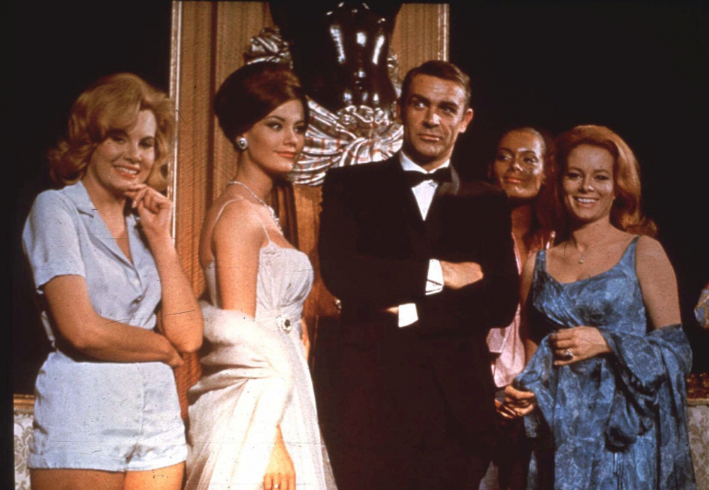 "Sean Connery, as James Bond, attends an event for the movie ""Thunderball."""