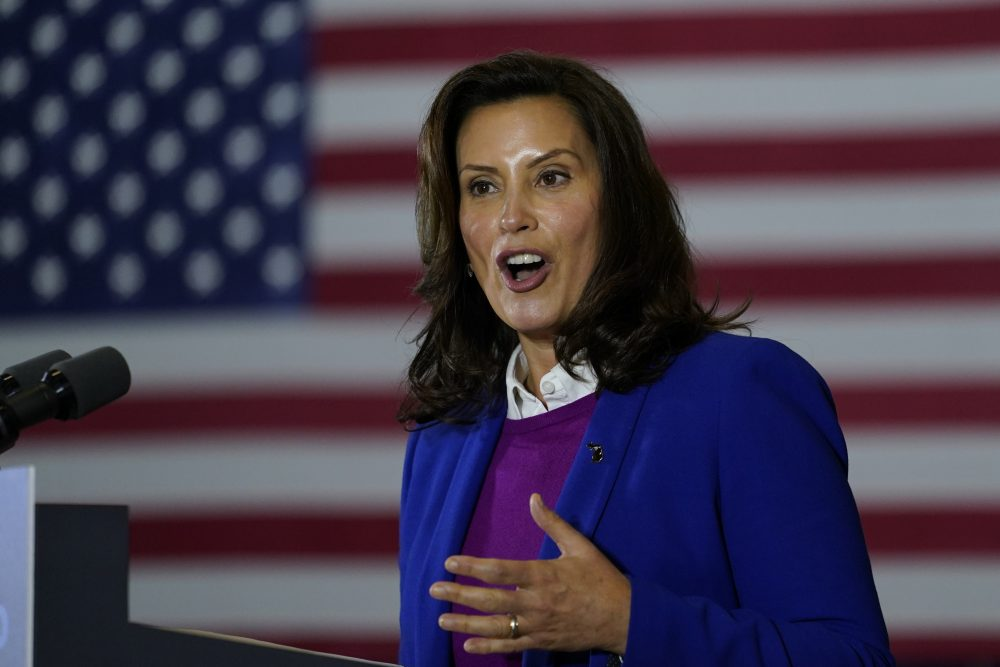 """The president is at it again and inspiring and incentivizing and inciting this kind of domestic terrorism,"" Whitmer said Sunday during ""Meet The Press."" ""It is wrong. It's got to end."""