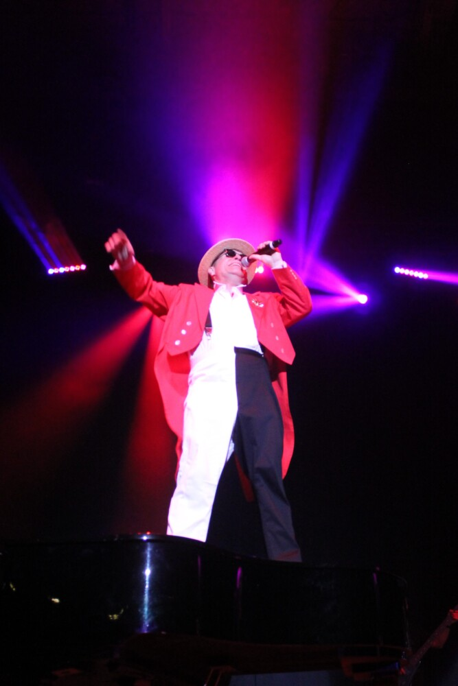 Gerard Brann as Elton John of the Yellow Brick Road tribute band, to perform Oct. 24 at the Somerset Abbey in Madison.