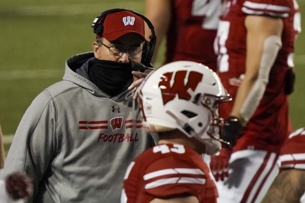 The Latest: Wisconsin cancels Nebraska game; 12 on football staff, including coach, test positive