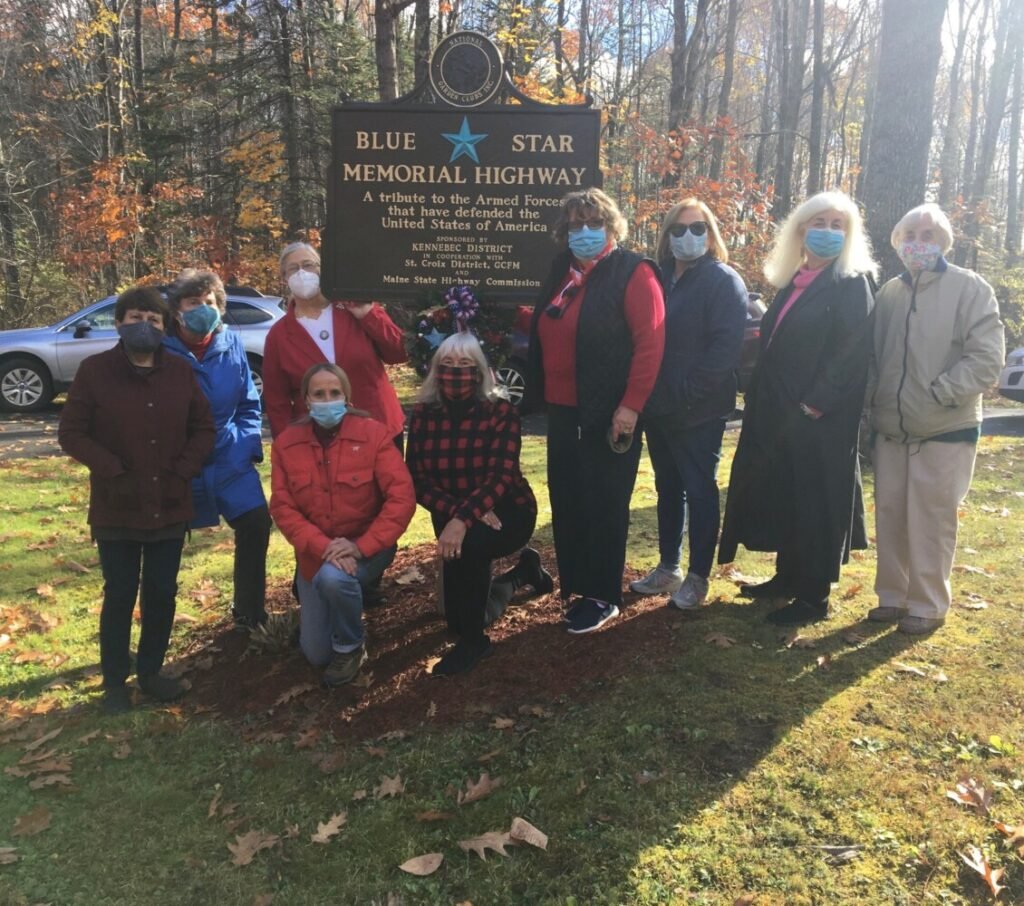 Kennebec Valley Garden Club members at the National Garden Club Inc.'s marker on Oct. 27 at the Maine Veterans' Memorial Cemetery off Civic Center Drive in Augusta. Kneeling from left are Julie Meagher and Debbie Sherman. Standing from left are Jane Berthieume, Sue Bourne, Snooky Lavalle, Karen Foster, Jan Karczewski, Coral Garrison and Lorraine Philbrick.