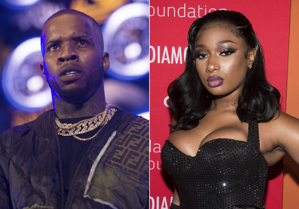 Megan Thee Stallion penned an op-ed on the failure to protect Black women on the morning that rapper Tory Lanez, left, had his first court hearing for felony charges that he shot her. She writes in the New York Times Tuesday that she was shocked to become a victim of violence from a man on July 12. She said she at first kept quiet about being shot because she feared backlash, and that fear has been justified.