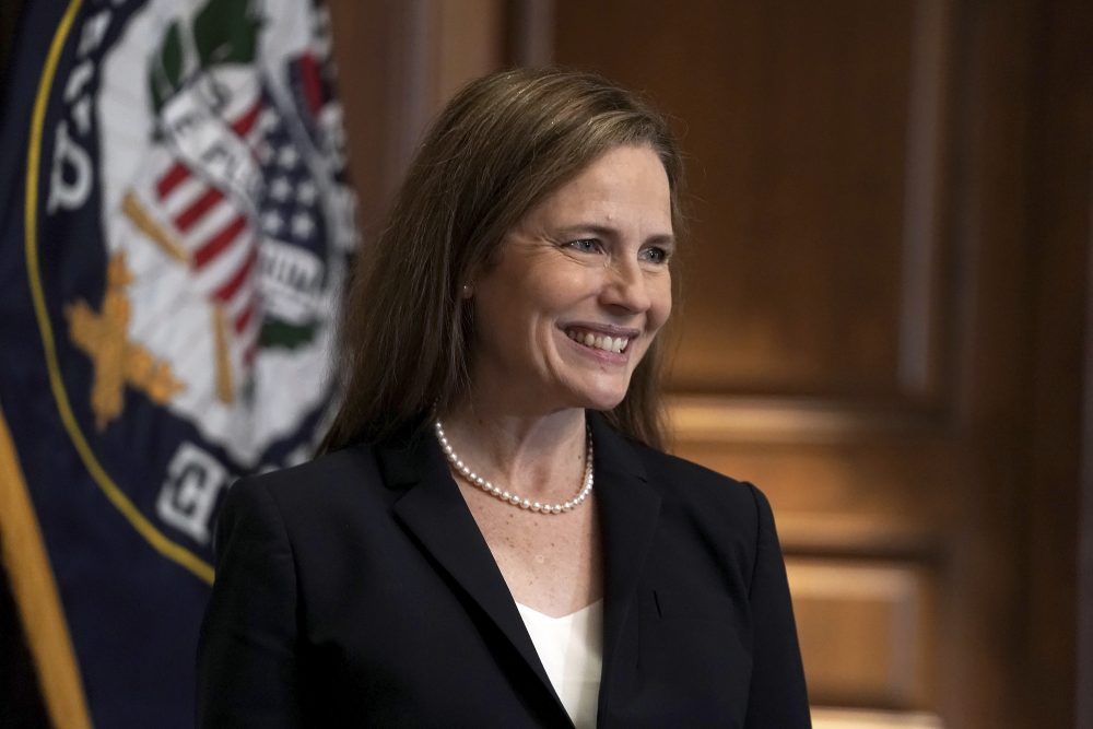 Amy Coney Barrett, President Trump's third justice on the Supreme Court, sided late Wednesday with the court's other conservatives in a ruling blocking a set of COVID-19 restrictions on houses of worship in New York.