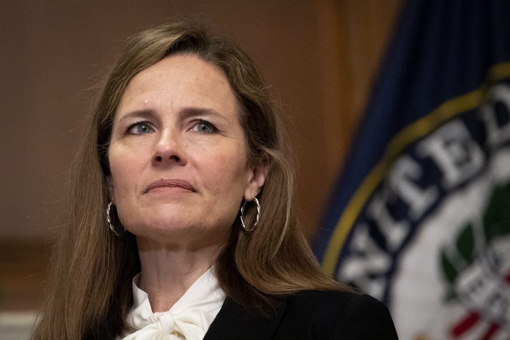 """Supreme Court nominee Judge Amy Coney Barrett has thus far refused to discuss her membership in the Christian organization People of Praise, which opposes abortion and, according to former members, holds that men are divinely ordained as the """"head"""" of both the family and faith, while it is the duty of wives to obey them."""