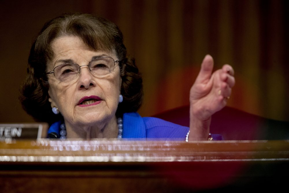 Ranking member Sen. Dianne Feinstein, D-Calif., speaks June 9 during a Senate Judiciary Committee hearing on Capitol Hill in Washington. Democrats are treading carefully on religious faith as they prepare to question President Trump's Supreme Court nominee.