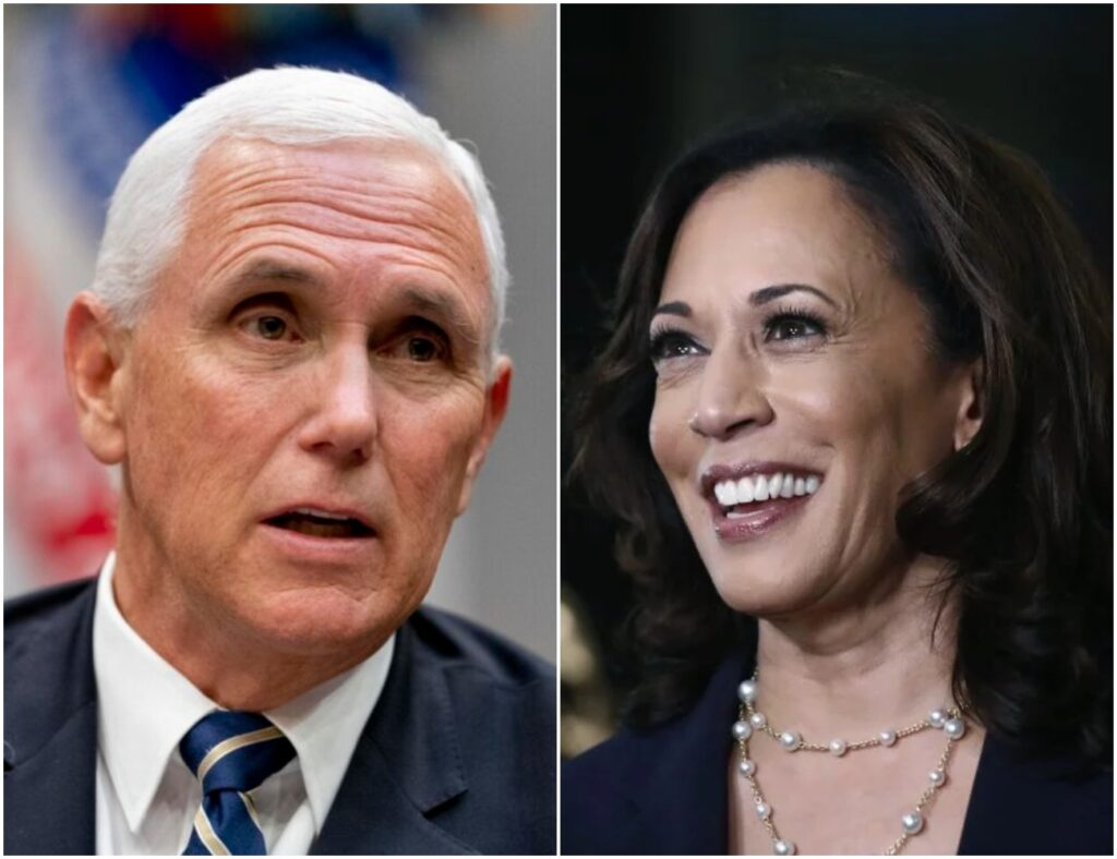 Republican Vice President Mike Pence and Vice President-elect Kamala Harris