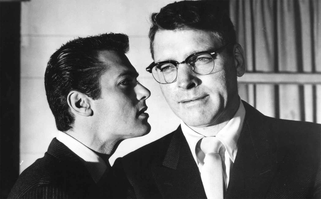 """Burt Lancaster, left, and Tony Curtis in """"Sweet Smell of Success"""" (1957)."""
