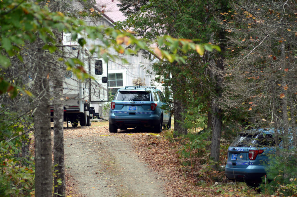 Maine State Police investigate a shooting at 125 Bonne Terre Road in Waldo.