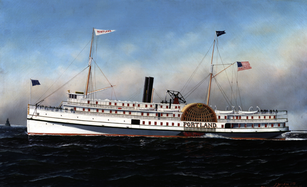 The S.S. Portland pained by Antonio Nicolo Jacobsen, 1891