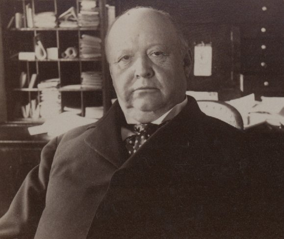 Thomas Brackett Reed, photographed in his office, 1898.