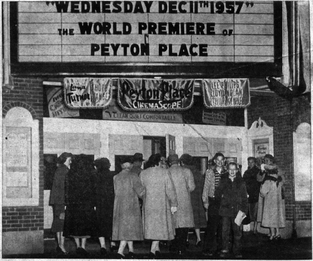 World premiere of Peyton Place in Camden on Dec. 11, 1957.
