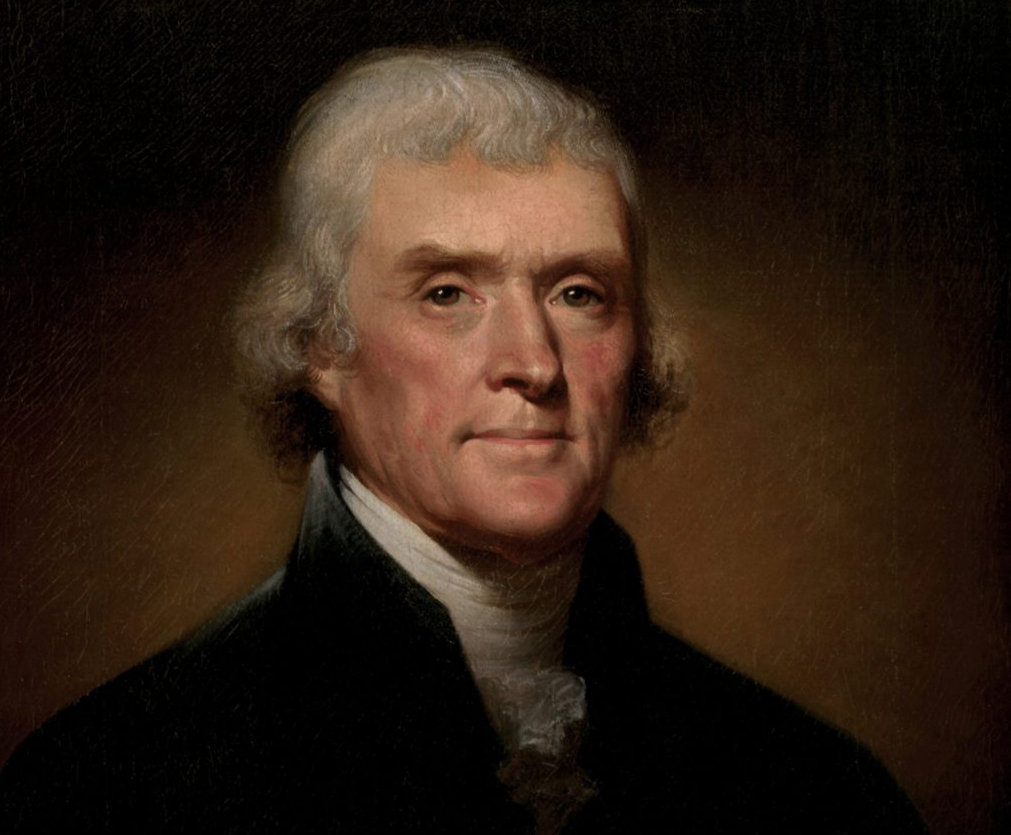 Thomas Jefferson, painted by Rembrandt Peale, 1800