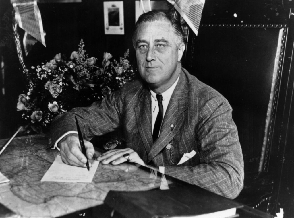 President Franklin D. Roosevelt in 1936. Three years later, a national retail association asked Roosevelt to move Thanksgiving observances to Nov. 23, citing the ongoing effects of the Great Depression.