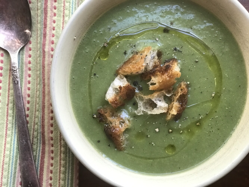 Turkey, Thyme and Spinach Potage