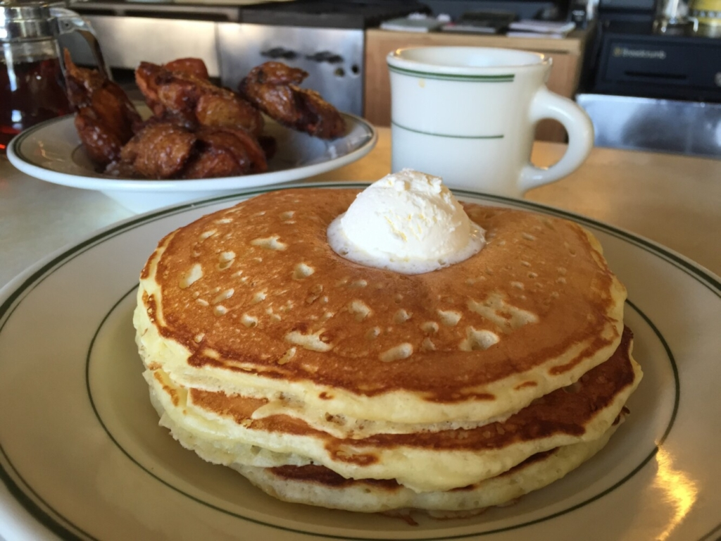 How do we love these Palace Diner pancakes? Let us count the ways.