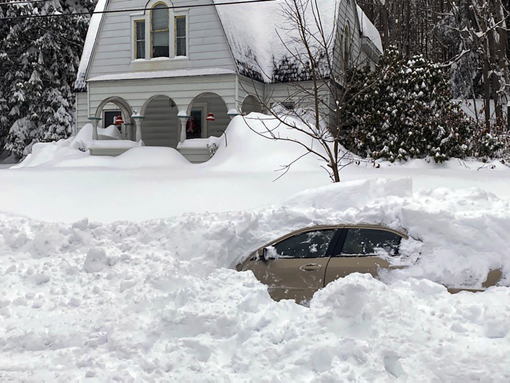 Driver buried for hours in snowstorm found by New York State sergeant