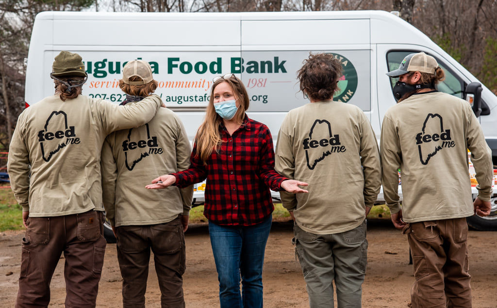 Maine Cabin Masters supported the Augusta Food Bank on Nov. 23 with drive-thru food drive.