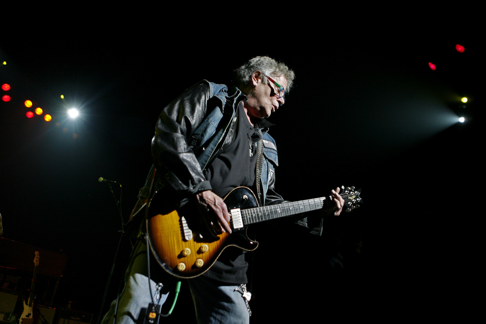 Leslie West of Mountain performs at the  Theater at Madison Square Garden in New York in 2008.