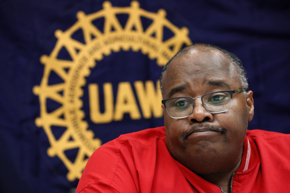United Auto Workers union President Rory Gamble answers questions last year in Southfield, Mich. The United Auto Workers and the U.S. attorney's office in Detroit say they have reached a settlement to reform the union in the wake of a wide-ranging bribery and embezzlement scandal.