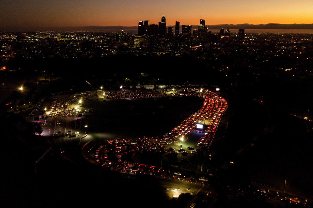 Motorists wait in long lines for a COVID-19 on Nov. 18 test in a parking lot at Dodger Stadium in Los Angeles. Health experts around the country are hoping the incoming Biden administration will put in place a comprehensive national testing strategy.