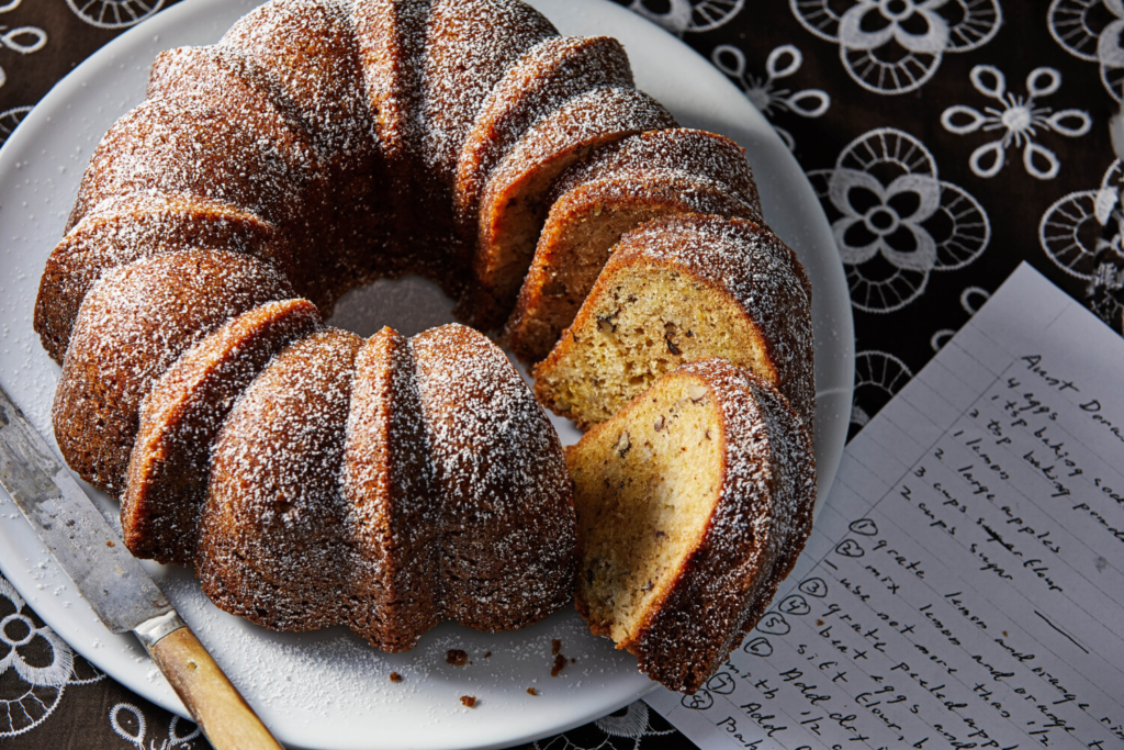 Apple and Pear Cake with Citrus and Nuts