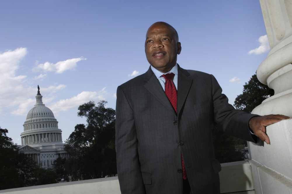 U.S. Rep. John Lewis, D-Ga., poses on Capitol Hill in Washington in October 2007. Lewis, who carried the struggle against racial discrimination from Southern battlegrounds of the 1960s to the halls of Congress, died Friday, July 17, 2020.