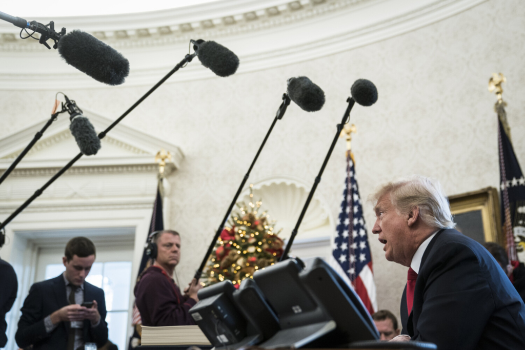 President Trump holds a news conference after signing the Tax Cuts and Jobs Act into law on Dec, 22, 2017.