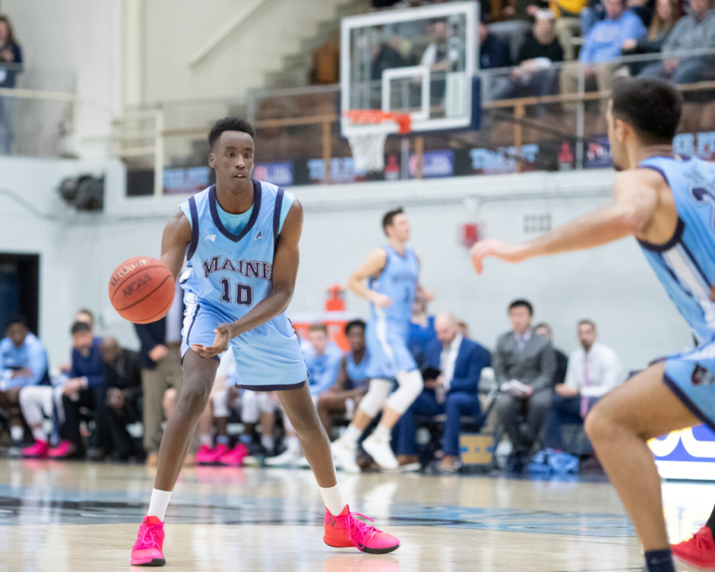 Redshirt sophomore Stephane Ingo is one of the captains on the UMaine men's basketball team. The Black Bears cancelled the remainder of its season, due to COVID-19 complications.