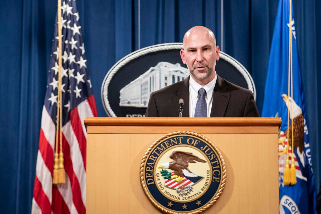 "Steven D'Antuono, head of the Federal Bureau of Investigation Washington field office, speaks during a news conference on Tuesday in Washington. Federal prosecutors are looking at bringing ""significant"" cases involving possible sedition and conspiracy charges in last week's riot at the U.S. Capitol."