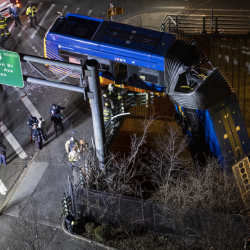 APTOPIX_Bus_Crash_Overpass_37103