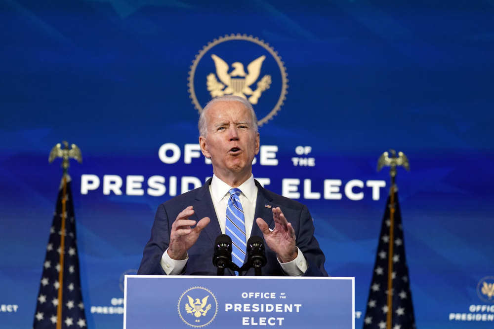 President-elect Joe Biden pledged on Friday to maximize the available supply of vaccines and materials needed to administer them, using a Cold War-era law called the Defense Production Act to direct private manufacturing.