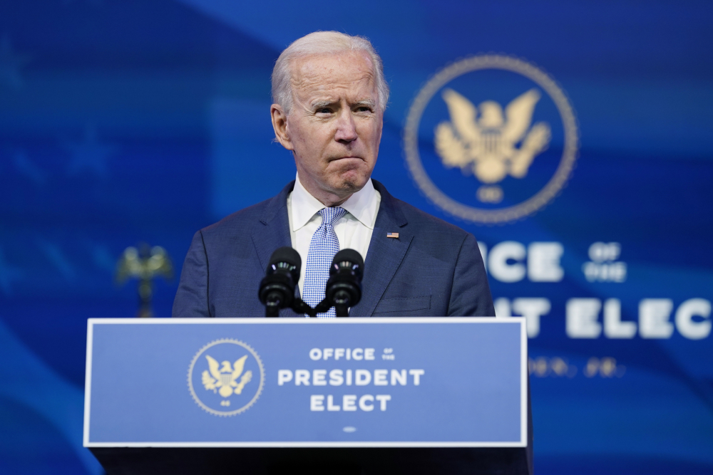 President-elect Joe Biden called on President Trump to demand an end to the mob violence as it went on at the Capitol on Wednesday.