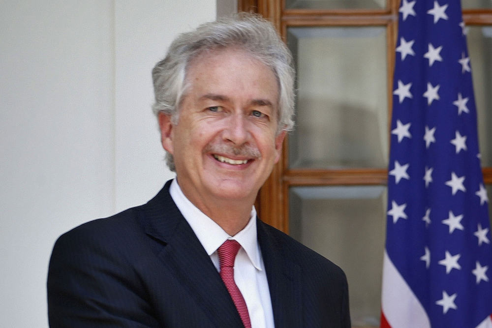 FILE - In this July 10, 2014 file photo, then U.S. Deputy Secretary of State William Burns, is shown in New Delhi, India. President-elect Joe Biden has chosen the veteran diplomat to be his CIA director.