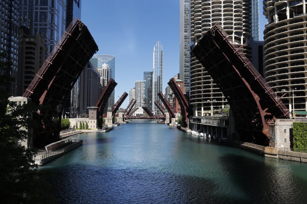 Several street bridges over the Chicago River remain closed in Chicago, after a night of unrest and protests over the death of George Floyd, on May 31. The year 2020 ended in Chicago with more homicides than in all but one year in more than two decades.  As in other cities, Chicago police attribute much of the increase in gun violence to the global coronavirus pandemic and civil unrest that erupted after Floyd died after being forcibly detained by Minneapolis police.