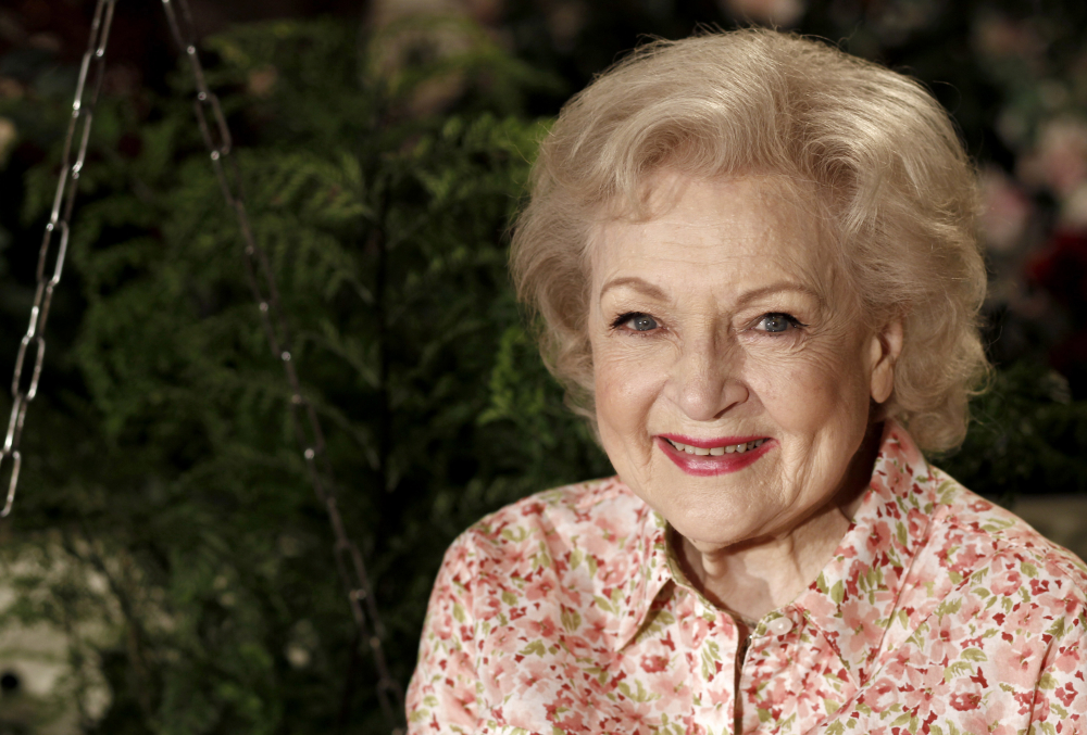 Actress Betty White in 2010.