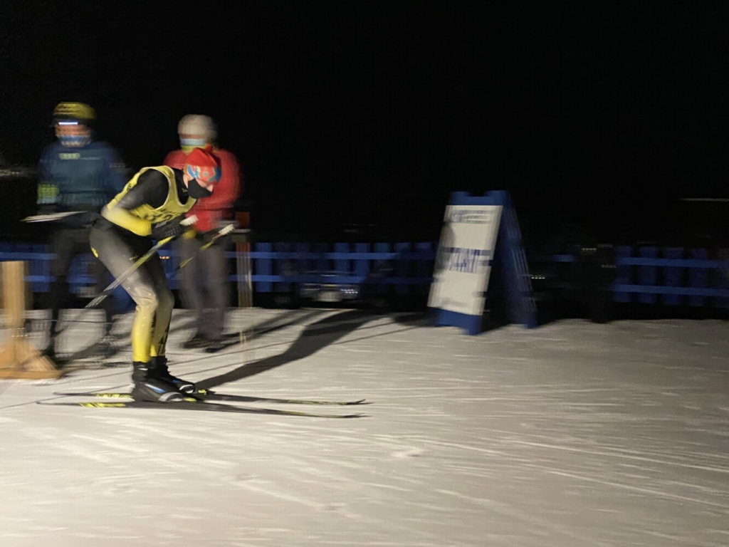 Maranacook's Seth White hits the trail during a Nordic ski meet Friday in Waterville.