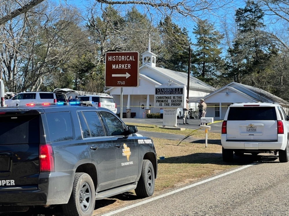 The Smith County Sheriff's Office is investigating a fatal shooting at the Starrville Methodist Church in Winona, Texas, on Sunday morning. A suspect who fled has been arrested, according to the sheriff's office.