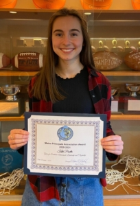 Wells High School senior Kate Pinette is a recipient of the MPA's 2021 Principal's Award