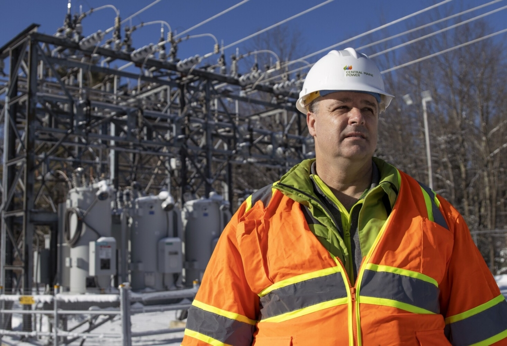 Chris Fullarton of Central Maine Power says the company's substation off Two Rod Road in Scarborough, built about 20 years ago, cannot currently handle the wave of proposed solar projects. The utility initially told solar developers it would need to charge them millions of dollars for upgrades, but now it says there may be a cheaper solution.