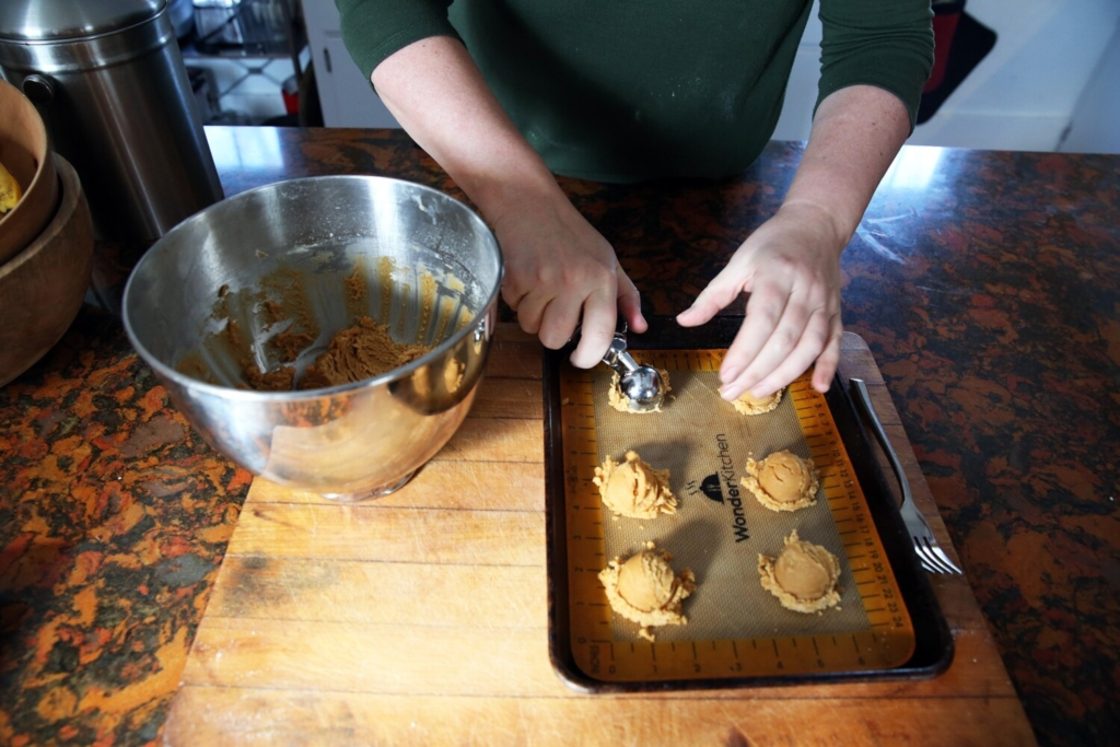 Boost the protein in baked goods, like these Soft Salted Peanut Butter Cookies, or treat your gluten-free friends, with sweets made with chickpea flour. Bonus: chickpeas are an environmentally friendly crop to grow.