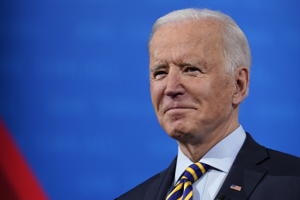 President Biden answers questions during a televised town hall event at Pabst Theater on Tuesday in Milwaukee.