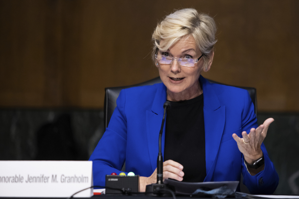 Former Gov. Jennifer Granholm, D-Mich., testifies before the Senate Energy and Natural Resources Committee last month. She won confirmation Thursday as U.S. energy secretary.