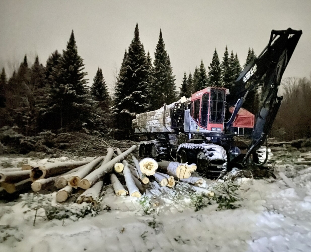Logging crews have begun clearing trees to widen the existing Central Maine Power transmission corridor near Moxie Pond in The Forks.